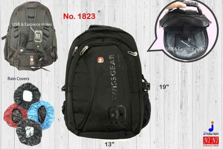 (1823) SwissGear Brand Backpack Travel School Office Work Casual Laptop Bag