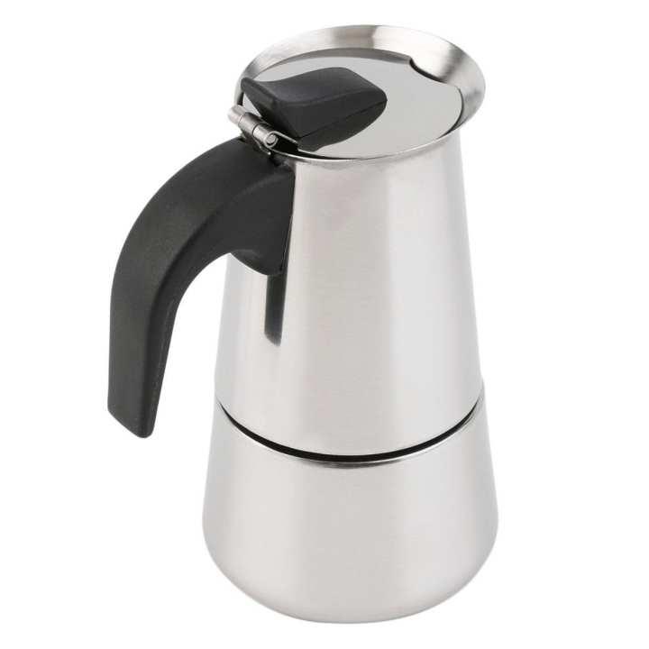 2/4/6-Cup Percolator Stove Top Coffee Maker Moka Espresso Latte Stainless Pot