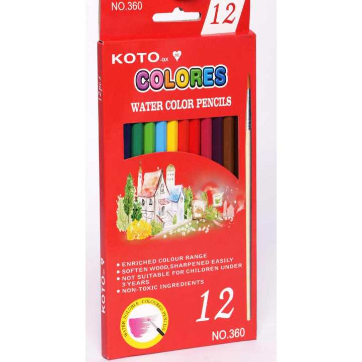 KOTO 360-12WCS 12WATER COLOR W/BRUSH