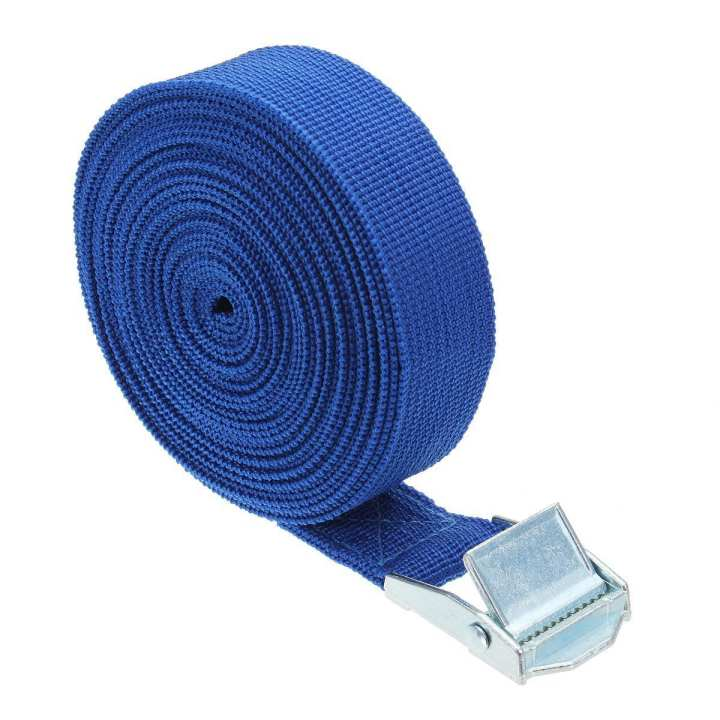 Mango 5m*25mm car luggage binding belt car roof luggage fixed belt blue