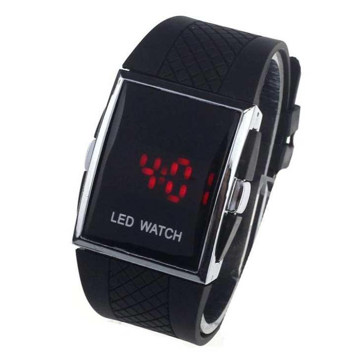 FashionieStore Ladies wristwatch LED Alarm Date Digital Men Women Sports Gel Watch Wrist Bracelet Black