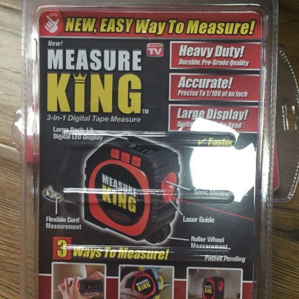 String Mode//Sonic Mode//Roller Mode Digital Tape Measur 3 in 1 Measure Ruler