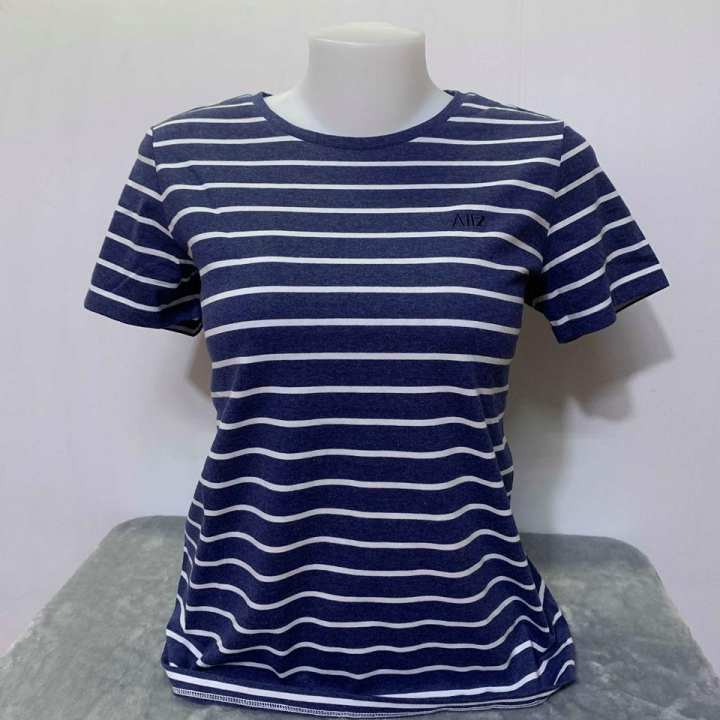 AIIZ Stripe Tee -  Blue/White