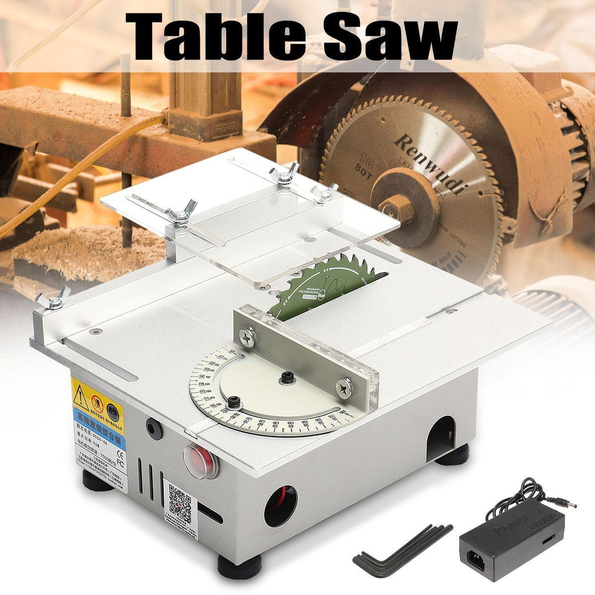 Mango DC12-24V T5 Miniature Precision Small Table Saws DIY Woodworking  Cutting Machine