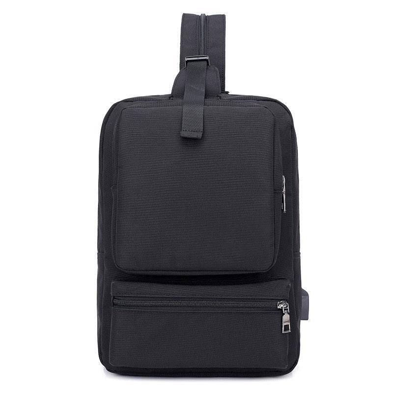 d861827e3 New Men Upgrade USB Charging Backpack Multi-function Shoulder Casual Chest  Bag Outdoor Travel Large