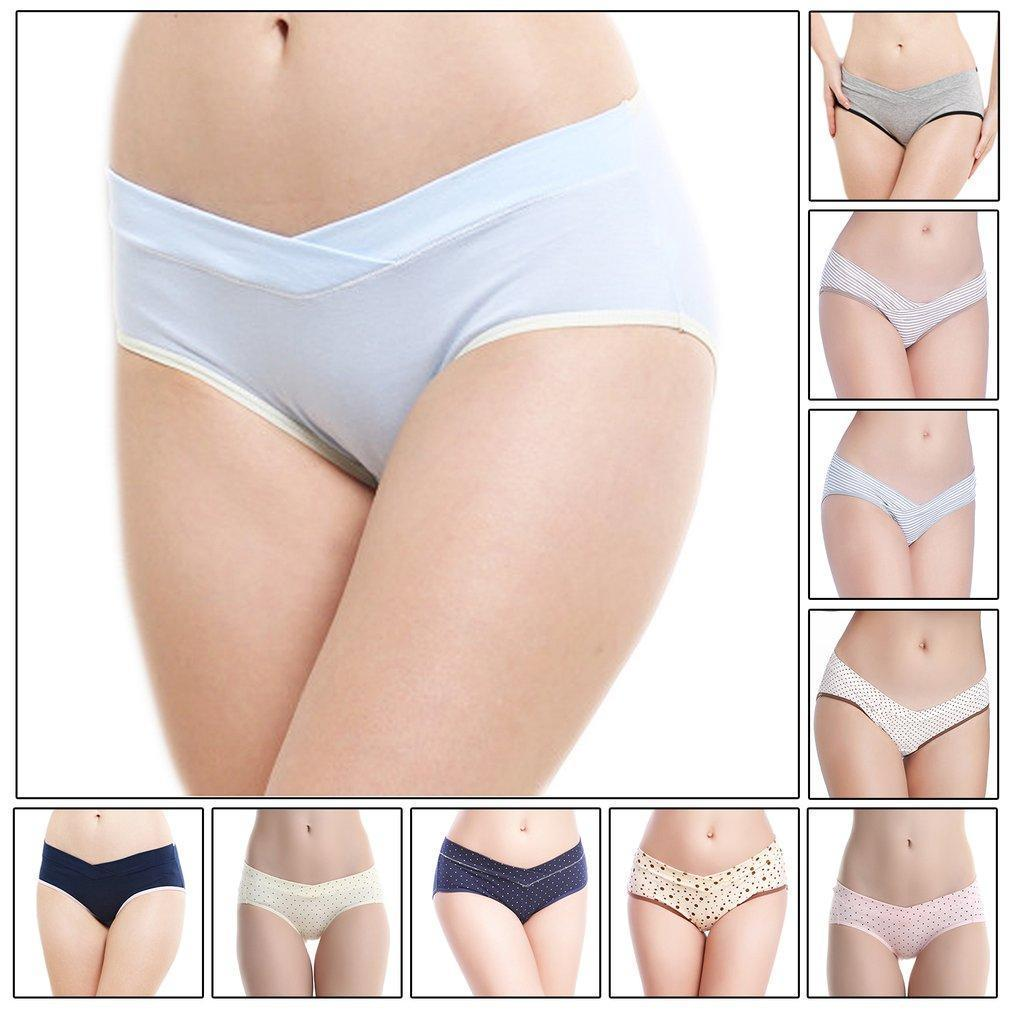 d2d974759fc18 Women Panty Low Waist Breathable Triangular Pregnant V-Shaped Underwear