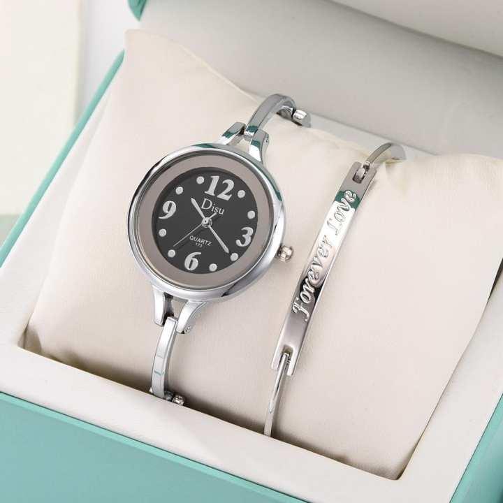 FashionieStore Ladies wristwatch Light Luxury Girl Temperament Watch Bracelet Set Chain Watch Birthday Gift