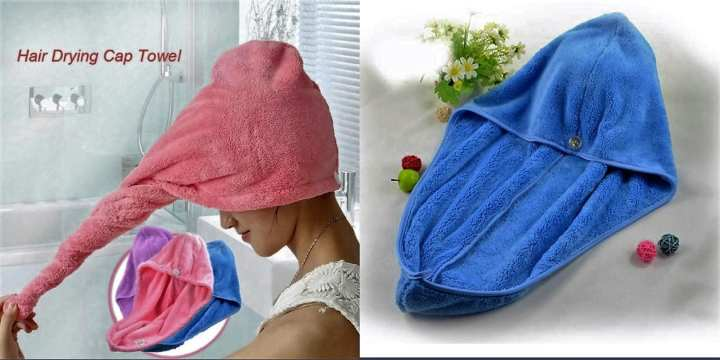 Quick dry hair cap towel(First Place Store Product)