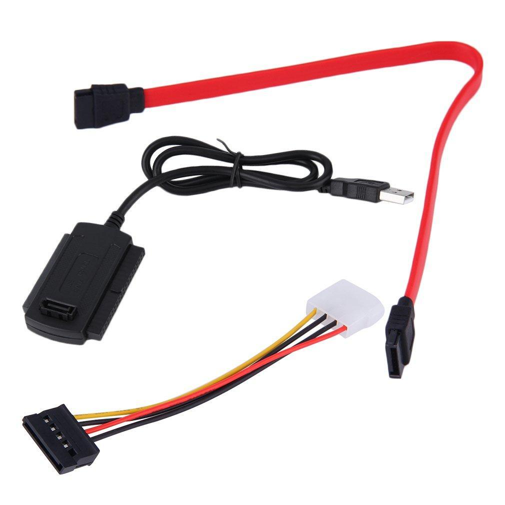 SATA/PATA/IDE Drive to USB 2 0 Adapter Converter Cable for 2 5/3 5 Hard