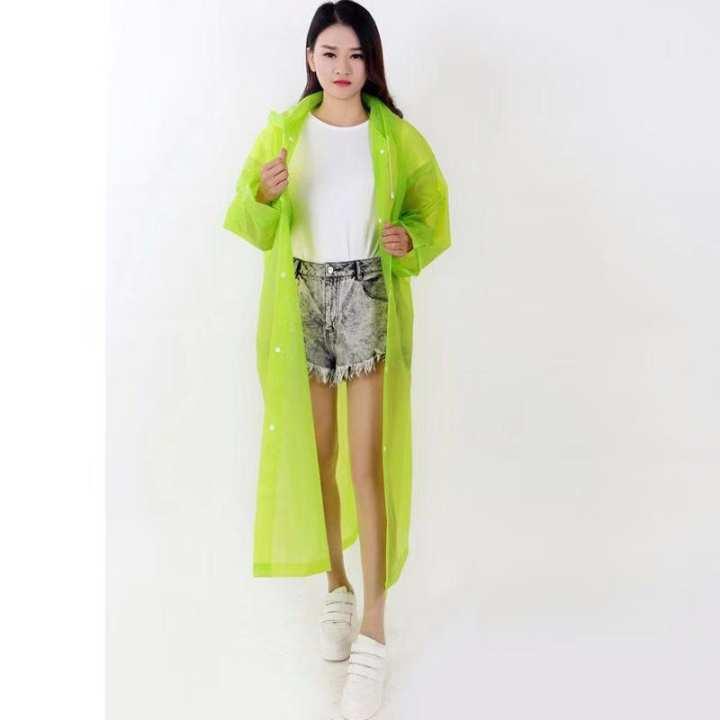 အထူ ေျဗာင္ မိုးကာအကၤ ်ီ Green 155cm rain coat
