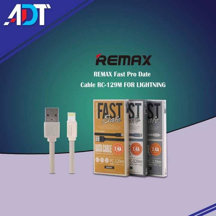 REMAX Fast Pro Data  Cable RC-129I FOR LIGHTNING(Charging Cable)