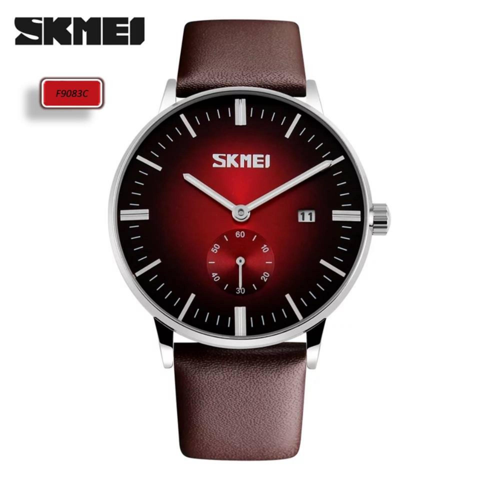 f104c564eed A N Skmei F9083 Fashion Men s Leather Strap Waterproof Quartz Wrist Watches