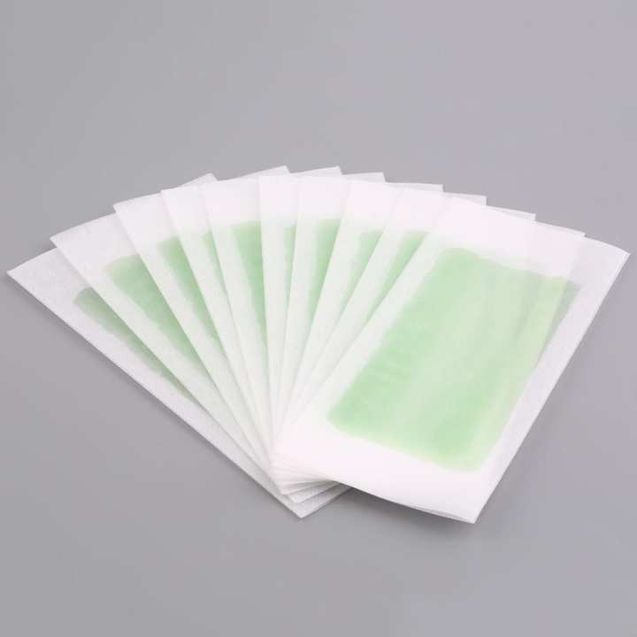 10PCS Hair Removal Double Side Cold Wax Strips Paper For Body Facial