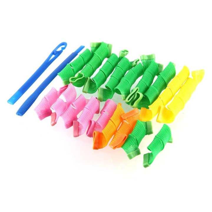 Plastic Magic Hair Curler Rollers Pear Head Hooks Kit Styling Tools