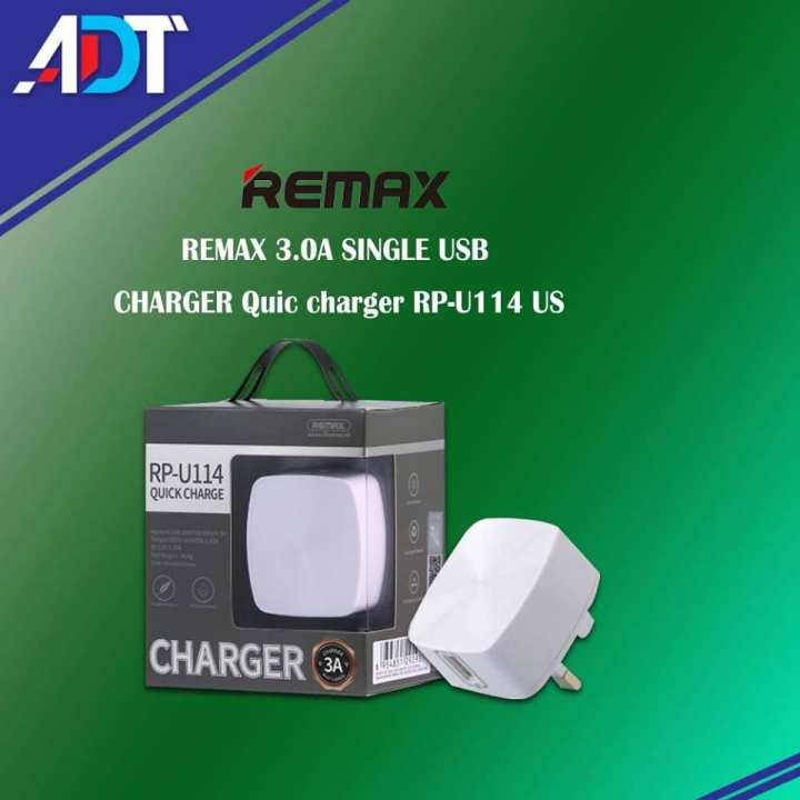 REMAX 3.0A SINGLE USB CHARGER Quick Charger RP-U114  US