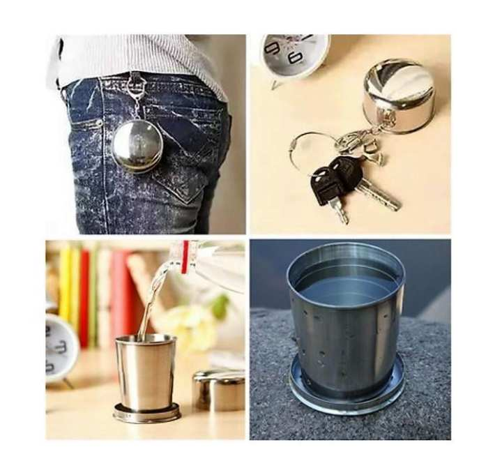 Stainless Steel Travel Folding Cup (First Place Store)
