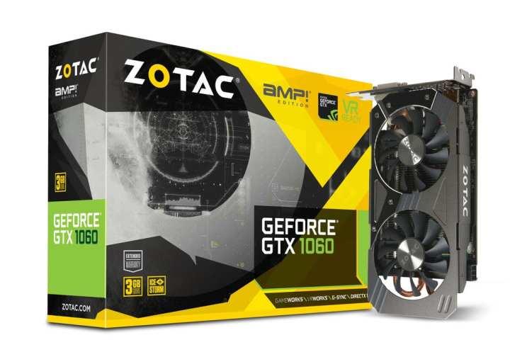 ZOTAC GEFORCE GTX 1060 AMP! Edition Core 3GB GDDR5
