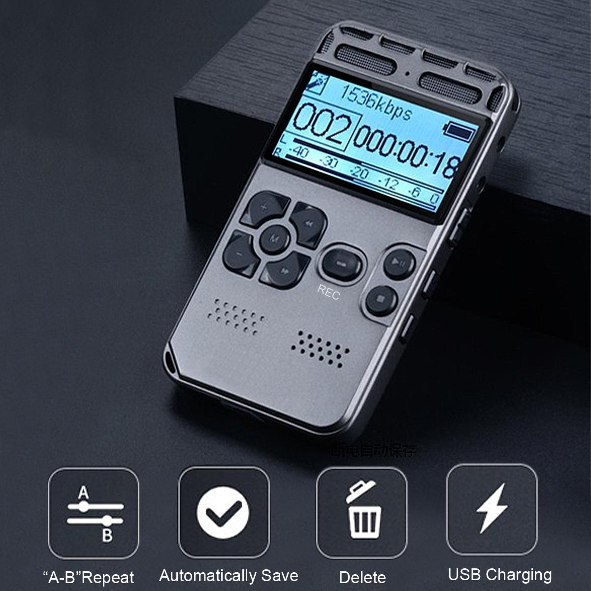 Mango 64G Rechargeable LCD Digital Audio Sound Voice Recorder Dictaphone MP3 Player