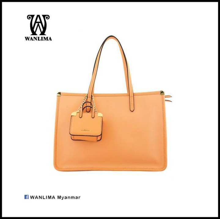 Wanlima -  Tote Bags & Shoulder Bags - 1201235000181-Orange